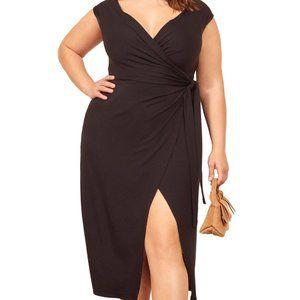 Reformation Chamomile Wrap Midi Jersey Dress 3X